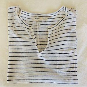 Madewell blouse top, 3/4 sleeve, Medium